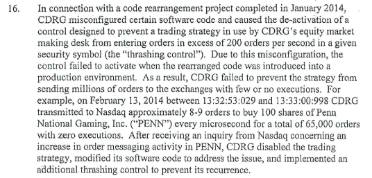 Nanex ~ 15-Aug-2014 ~ The Quote Stuffing Trading Strategy