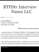 BTFD TV Interview with Eric of Nanex LLC