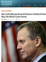 New York Attorney General Endorses A Radical Change To The Way The World Trades Stocks
