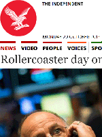 ROLLERCOASTER DAY ON STOCK MARKETS
