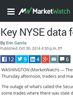 KEY NYSE DATA FEED HAS OUTAGE