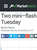 TWO MINI-FLASH CRASHES ROCK STOCK MARKET TUESDAY